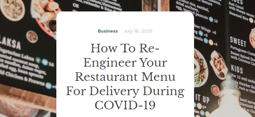 food tech writer
