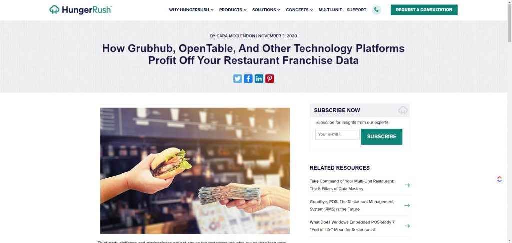 food tech strategy