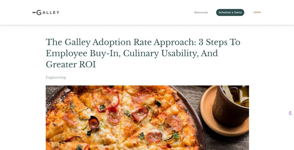 galley food tech contentn